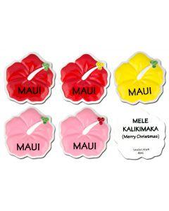 "126M: Hibiscus ""MAUI"" Mini Ornament"
