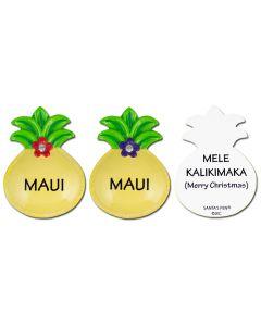 "127M: Pineapple ""MAUI"" Mini Ornament"