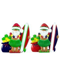 181N: Santa w/ Surfboard & Sack