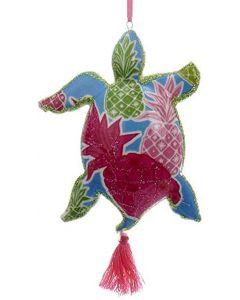 KSA239 Porcelain Turtle w/Tropical Print