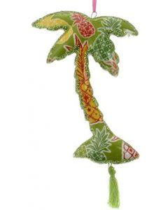 KSA249 Porcelain Palm Tree w/Tropical Print