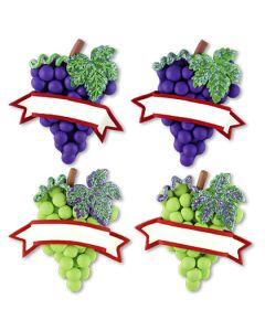 CL186M: Grapes w/ Banner Magnet