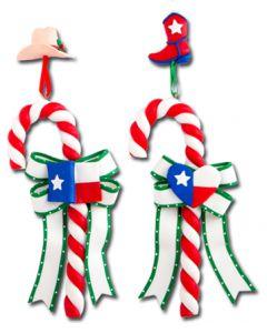 CL193: TEXAS FLAG CANDY CANE