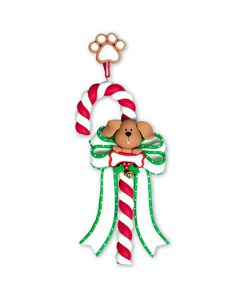 CL267: Dog Candy Cane