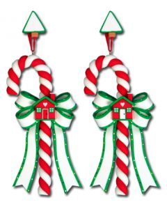 CL279: House w/ Door Candy Cane