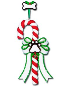 CL286: PAW PRINT CANDY CANE