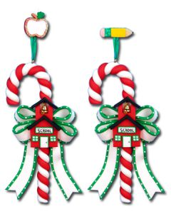 CL287: SCHOOL HOUSE CANDY CANE