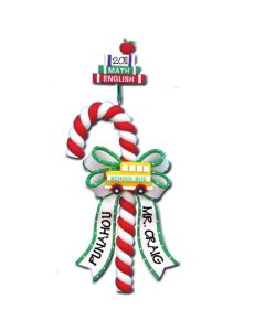 CL288: SCHOOL BUS CANDY CANE