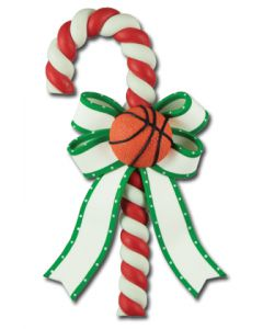 CL298: BASKETBALL CANDY CANE