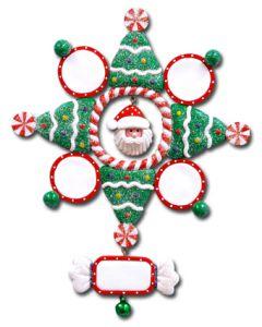 CL404S: Santa Snowflake - 4