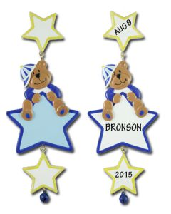 CR111: Baby Boy Bear w/ Stars