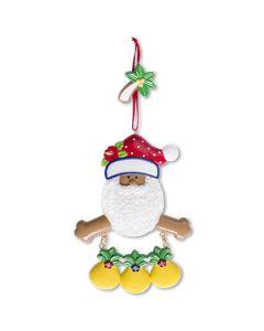 CR183N: New Tropical Santa w/ 3 Pineapples