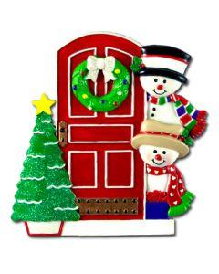 CR412N: Snowman Family Front Door-2