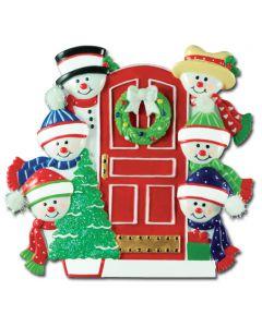 CR416N: Snowman Family Front Door-6