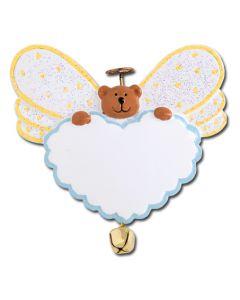 CR430: ANGEL BEAR HEART W/ BELL