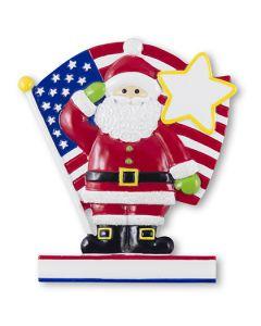 CR505USA: Santa w/ Flag