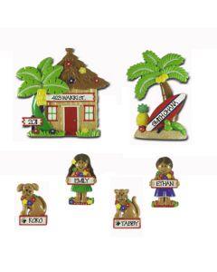 LR115 (2) + LR215 (4): Hut, Palm Tree, people & Pets