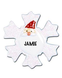 POR102A: Glitter Snowflake Santa - A