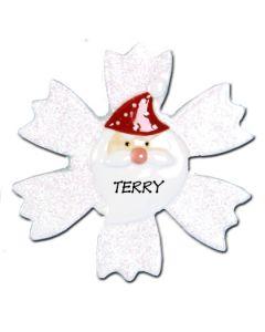 POR102B: Glitter Snowflake Santa - B