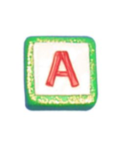 """ST200A: STOCKING LETTER """"A"""" BEAD"""
