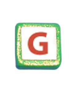 """ST200G: STOCKING LETTER """"G"""" BEAD"""