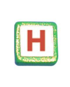 "ST200H: STOCKING LETTER ""H"" BEAD"