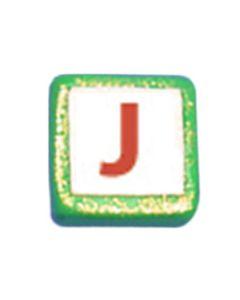"""ST200J: STOCKING LETTER """"J"""" BEAD"""