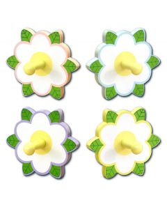 WB130: Girls White Flower Wall Hook