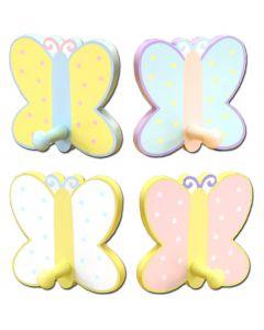 WB131: Girls Butterfly Wall Hook