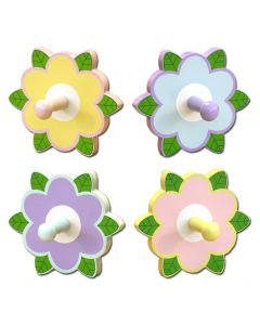 WB132: Girls Colored Flower Wall Hook