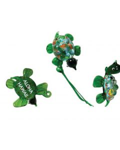 BOW114 - GREEN ART GLASS TURTLE
