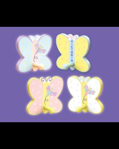 WB131(4): Butterfly Wall Hooks Set 4