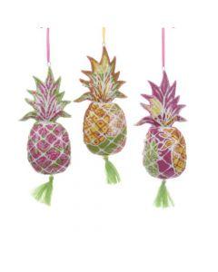 KSA257 Porcelain Pineapple w/Tropical Print