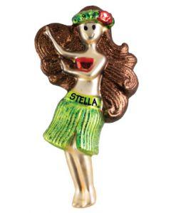 GLS203R:  Dancing Hula Girl - Red
