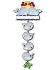 LR122 + LR222 (4): Whale Couple + (4) Whale Components