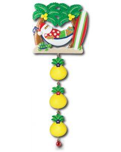 LR124 + LR005 (3): Tropical Santa Hammock + (3) Pineapple Components