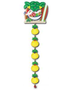 LR124 + LR005 (5): Tropical Santa Hammock + (5) Pineapple Components