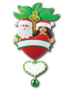 NT214 + LR226 (1): Tropical Couple w/Heart (Green Banner) + (1) Heart Component
