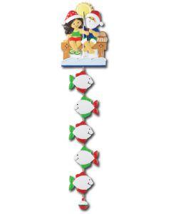 NT233 + LR007 (5): Fishing Couple (Santa w/Blue Shirt) + 5 Fishes