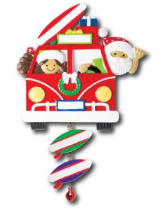 NT259+LR006:  VW Van Santa & Mrs. Claus + SB Component (2)