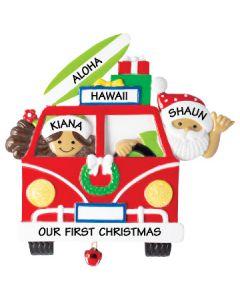 NT259:  VW Van Santa & Mrs. Claus