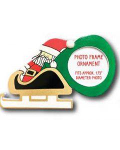 PF05N: Santa, Sleigh & Sack Picture Frame Ornament
