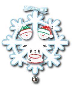 WA111 + WA312 (2) + WA206N (1): Snowflake + (2) Snowfaces + (1) Pet Dish