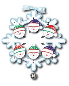 WA111 + WA312(6): Snowflake w/Bell + Snowface(6)