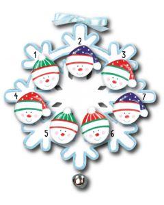 WA111 + WA312(7): Snowflake w/Bell + Snowface(7)