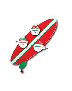 WA113 + WA312 (3):  SURFBOARD + (3) SNOWFACES