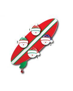 WA113 + WA312 (4):  SURFBOARD + (4) SNOWFACES