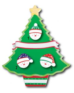 WA114 + WA312 (3): Christmas Tree + (3) Snowfaces