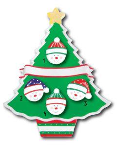 WA114 + WA312 (4): Christmas Tree + (4) Snowfaces
