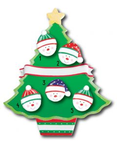 WA114 + WA312 (5): Christmas Tree + (5) Snowfaces